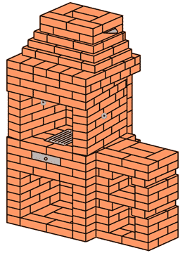 Беседочный камин-барбекю своими руками электрокамин richmond 14454