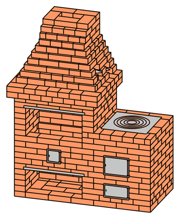 №226(А) Барбекю-камин с плитой для казана