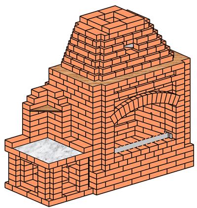 №237 Беседочный камин-жаровня